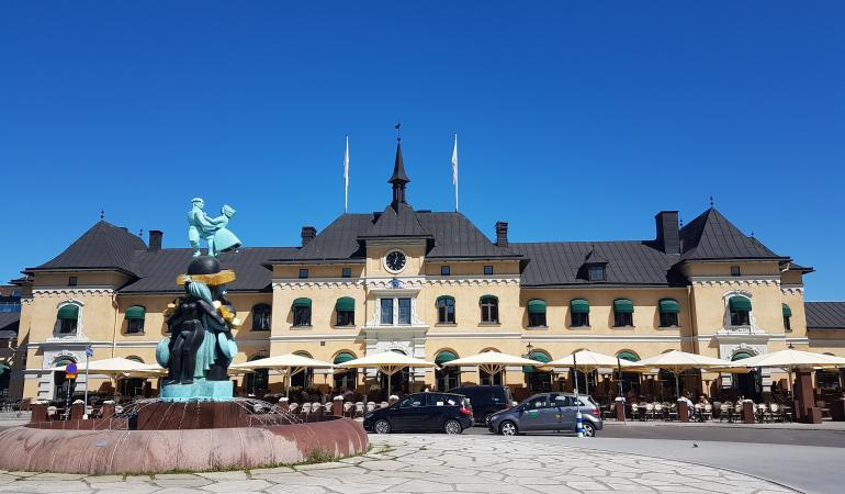 Arrival at Uppsala railway station